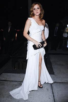 Emma Watson Wearing A White Print by Everett