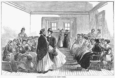 Employment Bureau, 1867 Print by Granger