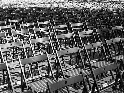 Empty Chairs Photograph - Empty Chairs by Christoph Hetzmannseder