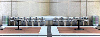 Empty Chairs Photograph - Study In Symmetry  by Rudy Umans