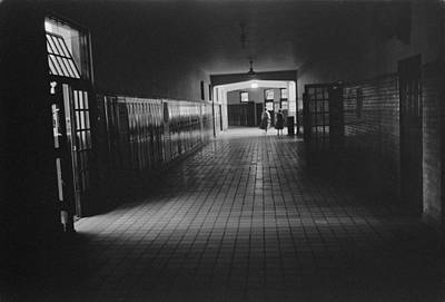Empty Hallway At Central High School Print by Everett