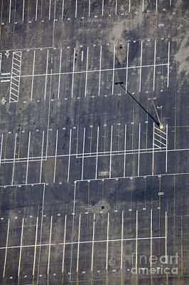 Empty Parking Lot Print by Don Mason
