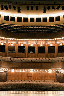 Performing Arts Event Photograph - Empty Seating In An Art Deco Theater by Adam Burn