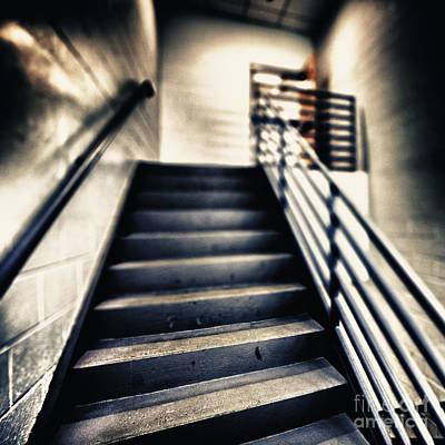 Empty Stairwell Print by Skip Nall