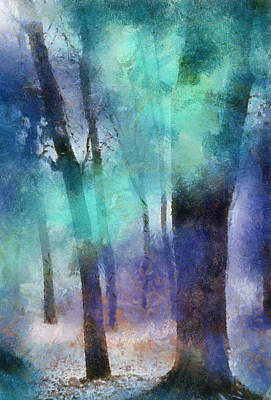 Jenny Rainbow Art Photograph - Enchanted Forest. Painting With Light by Jenny Rainbow