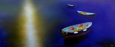 Water Painting - Enchanted Sea by Larry Cirigliano
