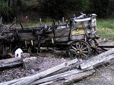 End Of The Trail Oregon Conestoga Wagon  Print by Glenna McRae