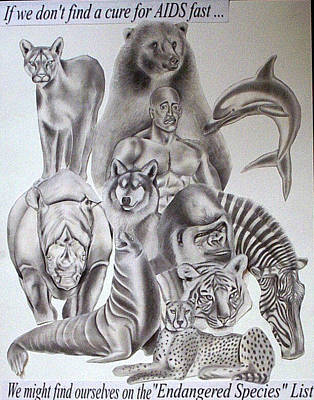 Tattoo Stencils Drawing - Endangered Species by Rick Hill