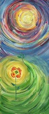 Energy Flower Print by Erik Tanghe