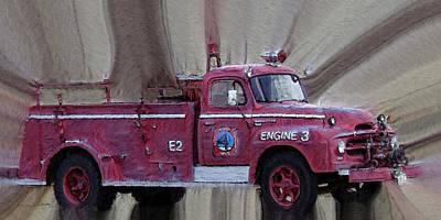Old Trucks Photograph - Engine 3 by Ernie Echols