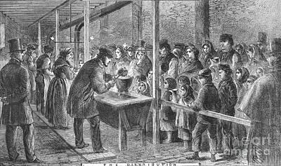 England: Soup Kitchen, 1862 Print by Granger