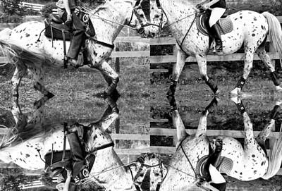 Horse Show Digital Art - English And Western Collide by Betsy Knapp