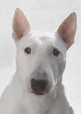 Purebred Digital Art - English Bull Terrier by JG Keevil