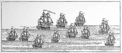 1732 Photograph - English Fleet, 1732 by Granger