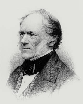 Charles Lyell Photograph - Engraving Of English Geologist Sir Charles Lyell by Dr Jeremy Burgess