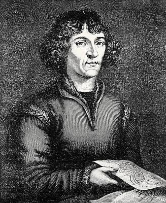 Engraving Of Nicolas Copernicus, Polish Astronomer Print by Dr Jeremy Burgess