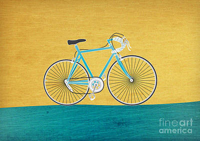 Bicycling Mixed Media - Enjoy The Ride by Linda Tieu