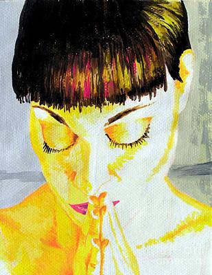 Enlightened Woman Print by Jose Miguel Barrionuevo