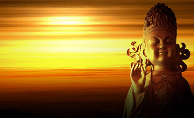 Budda Photograph - Enlightenment by Anthony Citro