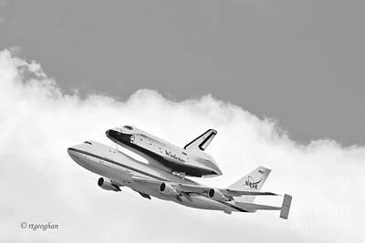 Enterprise Shuttle Over Ny Print by Regina Geoghan