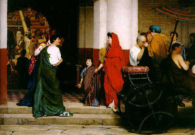 Entrance To A Roman Theatre Print by Sir Lawrence Alma-Tadema
