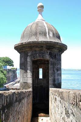 Entrance To Sentry Tower Castillo San Felipe Del Morro Fortress San Juan Puerto Rico Print by Shawn O'Brien