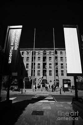 Entrance To The Albert Dock And Beatles Museum Liverpool Merseyside England Uk Print by Joe Fox