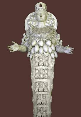 Ephesian Statue Of Artemis Print by Sheila Terry