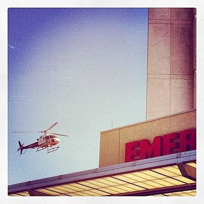 Helicopter Photograph - Er  #emergency #er #helicopter by Erik Merkow