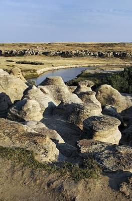 Eroded Sandstone Hoodoos, Alberta Print by Kaj R. Svensson