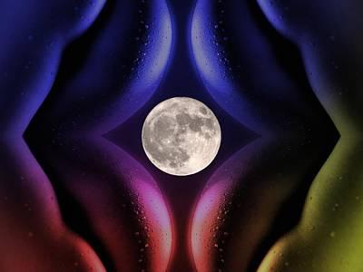 Couple Mixed Media - Erotic Moonlight by Steve K
