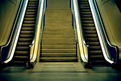 Escalators And Stairs Print by Joana Kruse