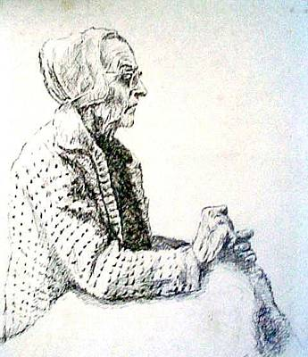 Amish Drawing - Estle by Leslie Bookout