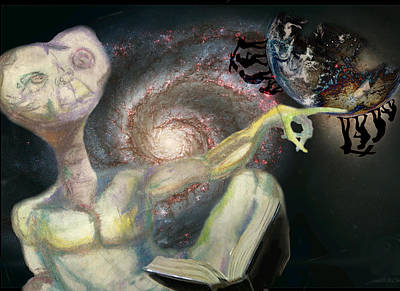 Outer Space Mixed Media - E.t. by Rae Pruski