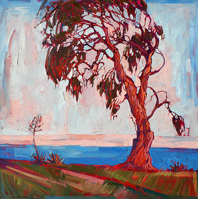 Malibu Painting - Eucalyptus At Malibu by Erin Hanson