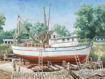 Docking Painting - Eulalia by Steve Orin