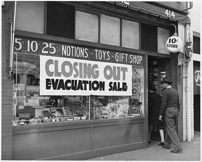 Evacuation Sale Sign Print by Everett