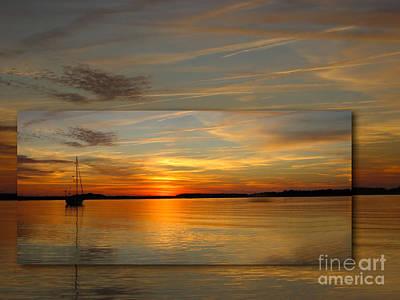 Sailboat Photograph - Eve Ning by Judee Stalmack
