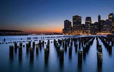 Y120817 Photograph - Evening At Brooklyn Bridge Park by Arnab Guha Photography