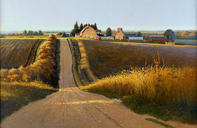 Painting - Evening Comes To Jo Davies County by Tom Heflin