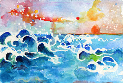 Evening Tide Print by Ginette Callaway