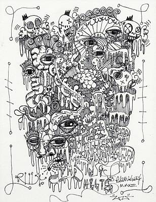 Abstract Expressionism Drawing - Everything Melts by Robert Wolverton Jr