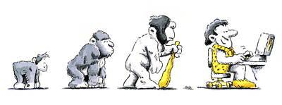 Evolution Of Man Print by Detlev Van Ravenswaay
