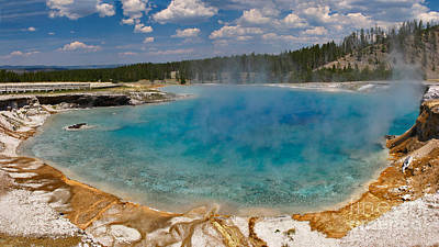 Steam Photograph - Excelsior Geyser Blues by Charles Kozierok