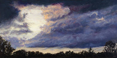 Sky Scape Painting - Exhale by Ann Moeller Steverson