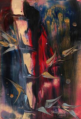 Encaustic Painting - Exotic Bamboo II by Marionette Taboniar