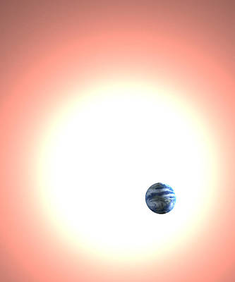 Expanding Sun And The Earth, Artwork Print by Christian Darkin