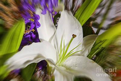 Exploding Flowers Print by M K  Miller