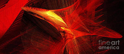 Red Digital Art - Explosive Dance by Andee Design