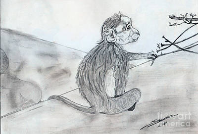 Shashi Kumar Drawing - Expression by Shashi Kumar
